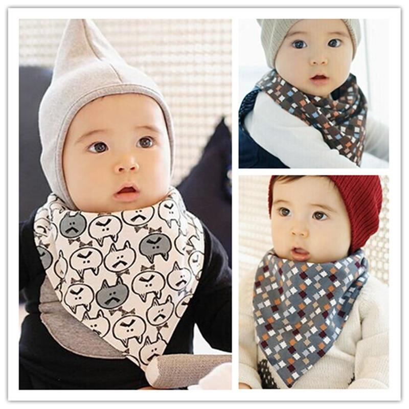 Leopard And Rose Print Baby Head Scarf Cotton Bib Baby Shower Bandana Bib