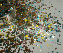 B3-Mixed Colors Round Dot Glitter Paillette Spangle Shapes for Nail Art Glitter Craft Decoration and Makeup