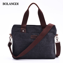BLD Brand New Canvas Business Briefcase Tote Casual Laptop Bags for Men Fashion Office Handbag Casual Man Shoulder bags(China)