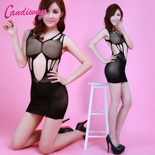 Hot Sexy Erotic Lingerie Bodystockings Sexy Costumes Dress Underwear Intimates Kimono Sex Products Open Crotch Women Teddies(China)