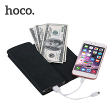 HOCO P4 4800mAh Wallet Style External Power Bank Smart Phone Supply Battery Charger Android Iphone - Hellen cai's store