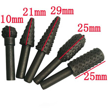 5pcs HSS Power Tools Woodworking Rasp Cisel Shaped Rotating Embossed Grinding Head Power Tool Engraving Pattern Cutter Milling(China)