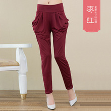2017 summer Fashion casual thin section female women Elastic Ice silk Harem nine Ankle-Length pants trousers clothing clothes