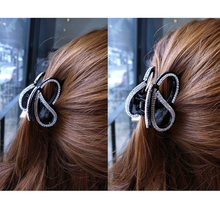 Flying Butterfly Hair Accessories Hair Claw Clip for Women Rhinestone Clasp Girls Hair Clamp Nice Hairpins Black/Brown HC3166(China)