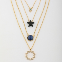 Timeless Wonder Chic stone star hand bib layered Necklace Women Collare gown custome charm PUNK hot sale female pop top new 4672