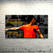 POPIGIST-Johan Cruyff Football Legend Art Silk Poster 13x24 inch Netherlands Soccer Star Pictures for Living Room Decor 006
