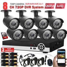 8CH 1080N HDMI DVR 1200TVL 720P HD Outdoor Surveillance Security Camera System 8 Channel CCTV DVR Kit AHD Camera Set