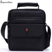Soperwillton Brand 2017 Fashion Men's Bag Men Messenger Bags Soft Handle Handbag Shoulder Crossbody Bag Male Black Color #1057