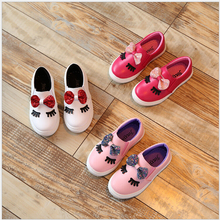Children shoes 2017 fashion Spring Bowknot Shoes girl sneaker Sequins princess party with flat Shoes kids trainers for girls