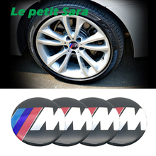 4PCS Car Aluminium M Performance Wheel Hub Center Caps Emblem Styling M Logo Wheel Sticker For BMW 1 3 5 7 Series X1 X5 X6 E39(China)
