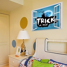 Hot Sale Creative Happy Halloween Home Household Room Wall Sticker Mural Decor Decal Removable New Feature:(China)