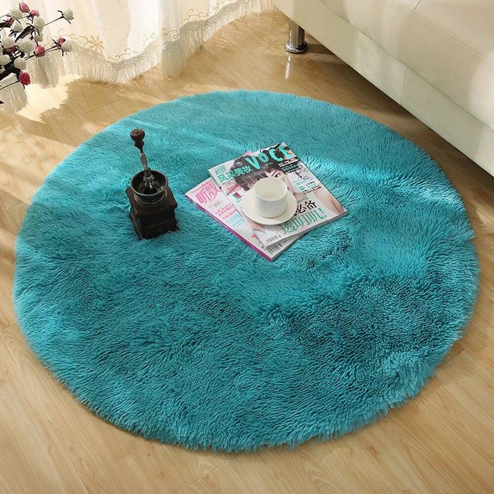 Round Rug Simple Solid Design Multipurpose Floor Mat