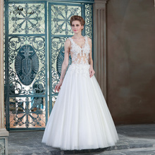 Venice Lace Sexy Backless Boho Wedding Dress Bridal Dresses HSW3