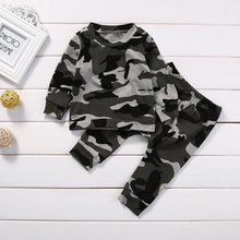2pcs new baby clothing set Toddler Infant Camouflage Baby Boy Girl Clothes T-shirt Tops+Pants Outfits Set(China)