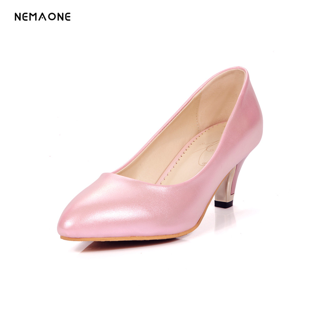 NEMAONE 2017 Hot Sale Brand Women Bridal Shoes High Heels Sexy Woman Pumps Ladies Pointed Toe Office Heels Plus Size 33-43<br>