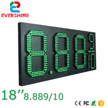 18'' 8889/10 outdoor waterproof 7 segment digital led gas price sign/led oil station display/led fuel gasoline board panel(China)