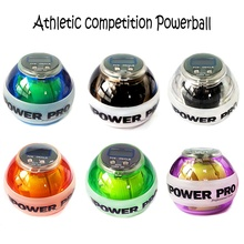 72*60mm Powerball gyroscrope force ball gyro power ball wrist exerciser power ball hand spinner with LED speed meter J2