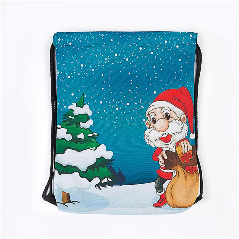 2018 New Ocardian Christmas Candy Gift Bundle Pocket Santa Claus Snowman Printed bag breathable Backpacks for Travel Daily C041711