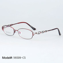 MY DOLI N8509 Full rim metal oval woman's optical spectacles with high quality optical frames eyewear eyeglasses(China)