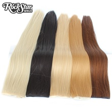 Rockstar Wigs 16Colors 24Inches Long Straight 5 Clips In Hair Extensions Black Brown Synthetic Hair Clip In Hairpiece