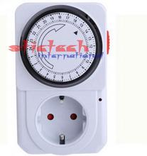 by dhl or ems 50 pieces hot sale 24 Hour Energy Saver Mechanical Electrical Plug Program Timer Power Switch EU Plug(China)