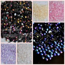 10000pcs Chameleon 3D Nail Art Tips SS12 3mm Jelly AB Resin Crystal Flat back Rhinestone not hotfix Nails Use Glue 18 Choices