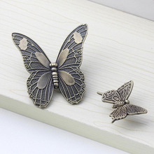 Zinc Alloy Vintage Bronze Butterfly Handle Cabinet Drawer Cupboard Wardrobe Door 2 Size S/L Simple And Plain Design V5017