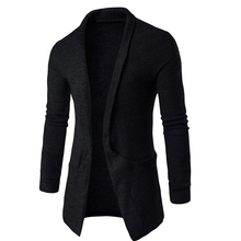 Hemiks 2017 Fashion New Men's Open Front Cardigan Cotton Blend Sweater Thin Wool knitted Cardigan Outwear Men Cardigan Sweater