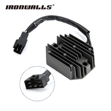 Ironwalls 12V Black Motorcycle Regulator Rectifier Voltage for Suzuki AN400 Burgman 400 Skywave AN250 Burgman 250 Skywave 250