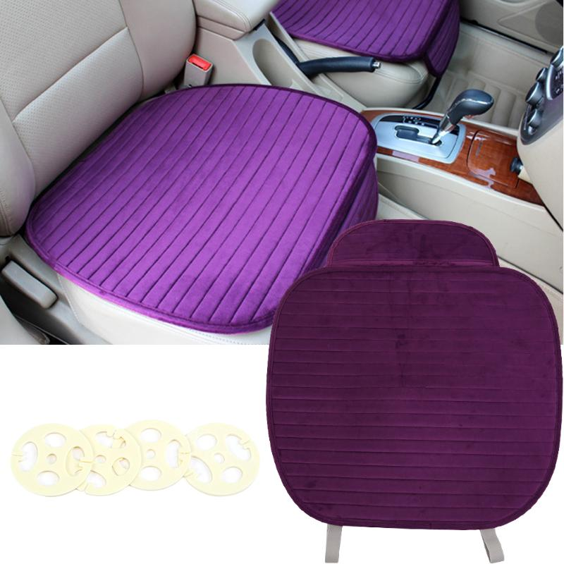 Crystal Velvet Car Seat Cover Cushion, Purple Color