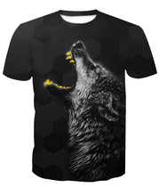 3D Fashion 2017 hot sale New fashion 3D wolf casual short sleeve T-shirts custom-made free shipping m to 6xl factory Outlet(China)