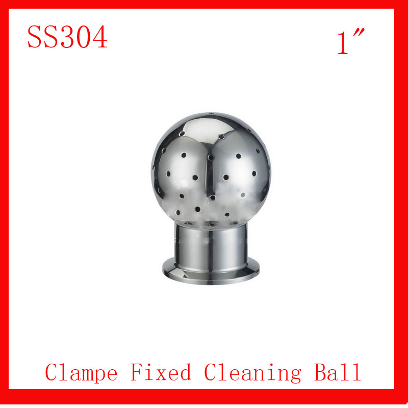 HOT 1 SS304 Stainless Steel 360 degree Spray Cleaning Ball  Clamped fixed Tank cleaning ball Tank Sanitary  Washing clean head<br><br>Aliexpress