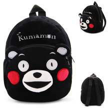 23*21*9cm Black Kumamon Plush Toy Children School Bag Girls Small Cartoon Backpack Boys Snacks Bag Kids Birthday Christmas Gifts(China)