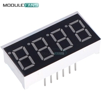 5PCS 0.36 inch 4 digit led display 7 seg segment Common cathode Red(China)