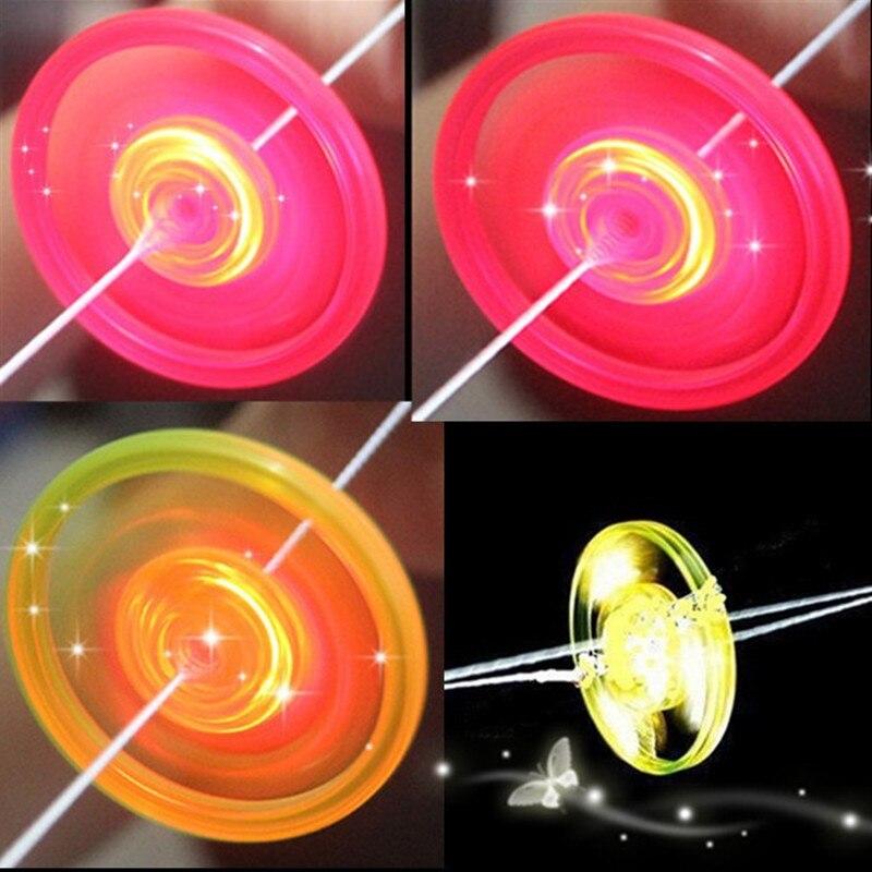 2018 New Juguetes Hand Pull Luminous Flashing Rope Flywheel Toy Led Light Up Toys Novelty For Children