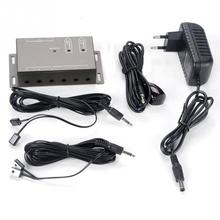 Hot Sale IR Remote Extender Transponder 1 Receiver 4 Emitters Infrared Repeater System Kit EU Plug / US Plug(China)