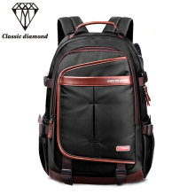 2017 Men Business Soft Nylon Backpack Women 15.6 inch Laptop Bags Fashion Travel Backpacks Waterproof Thicker School Mochila(China)