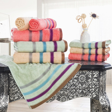 Top Quality 3 Pieces Towel Set 100% Cotton Solid Bath Towel Beach towel Adult Soft Wool Absorbent Towel