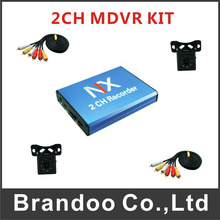 Mini CCTV 2 Channel Mobile Taxi Bus Vehicle Security DVR Motion Detect 2Ch DVR