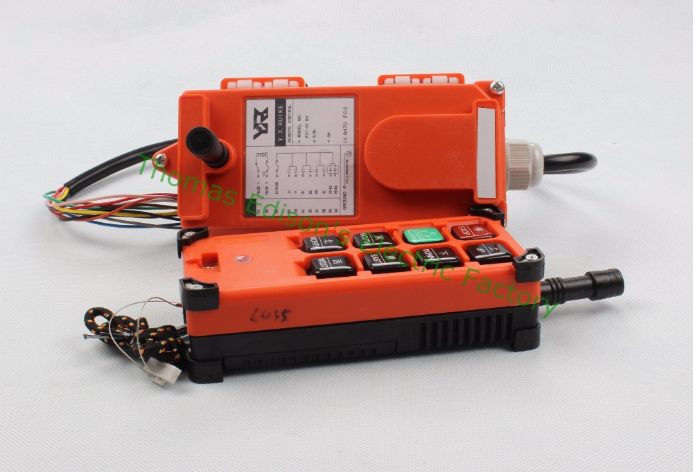 DC 24V Industrial Wireless Radio remote controller Switch for crane 1 receiver+ 1 transmitter<br>
