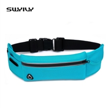 SWYIVY Canvas Sports Belt Travel Anti-theft Lightweight Invisible Waist Bag Men And Women Unisex Running Bag Running Accessories