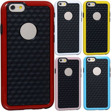 Unique 3D deluxe high quality grid box vision diamond special cuboid soft skin TPU Case for iPhone 6 4.7'' protector back Cover