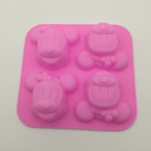 4 With Minnie Mickey Moon Cake Mold Silicone Kitchen Baking Silicone Bakeware Soap Mold DIY 1pc