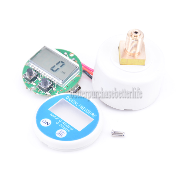 Free Shipping  MIni Battery-powered Digital Pressure Gauge RS232Manometer 0-30atm/450psi G1/8 USB5V2017 new arrival<br><br>Aliexpress