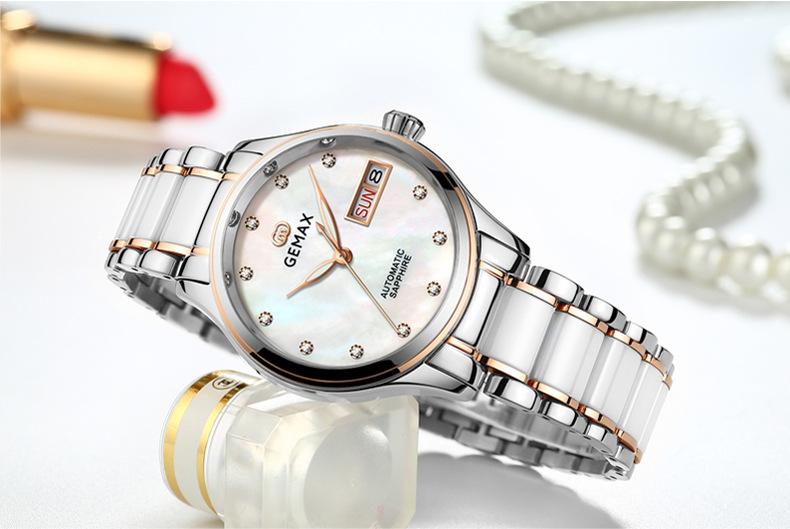 GEMAX Women Watches Waterproof Automatic Mechanical Watch Ladies Fashion Top Brand Diamond Calendar Ceramic Sapphire MIYOTA 2017 (6)