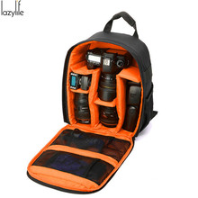 LAZYLIFE Video Photo Digital Camera Shoulders Padded Backpack Bag Waterproof Shockproof Small Bags for Canon Nikon High Quality