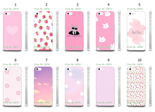 Mobile Phone Case Wholesale 10pcs/lot pink Design White Hard Back Case For IPHONE4 4S Cases