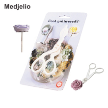 Cake Buttercream Rose flowers Decorating Auxiliary tools baking Accessories Scissors nails set royal icing modeling Transfers(China)