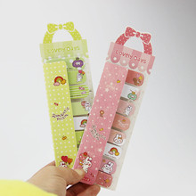 2PCS/lot Cartoon Animals Sweet Bow Mini Sticky Memo Pad N Times Sticky Notes Memo Paper Stickers Sent at Random(China)