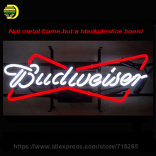 Budweiser neon sign Handmade Real Glass Tube Neon Bulb Neon Light Sign install on a plastic board 24x12 beer bar pub(China)